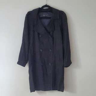 Topshop Black Soft Trench