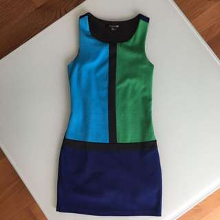 F21 Color Block Office Dress