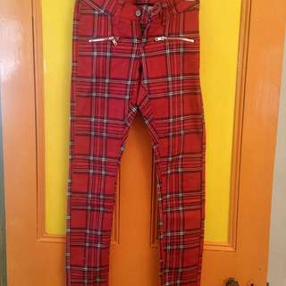 Dickies Women's Tartan Jeans