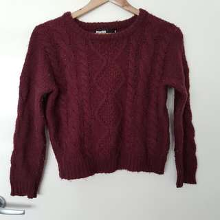 Dangerfield Princess Highway Crop Cable Knit Jumper 8