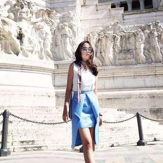 Blue Skirt Highlow