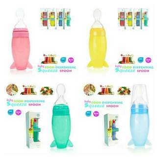 120ml Silicone Baby Squeeze Food Dispenser
