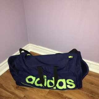 Blue And Green Adidas Duffel Bag