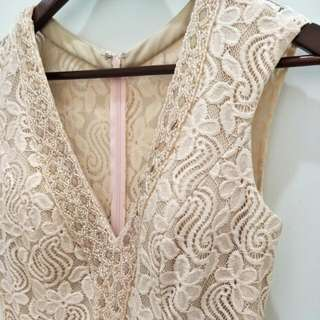 party gown fitted lace dress NEW never worn