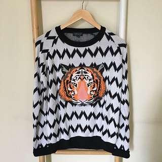 TOPSHOP Tiger Sweater