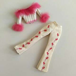Barbie Doll Jacket And Pants Set