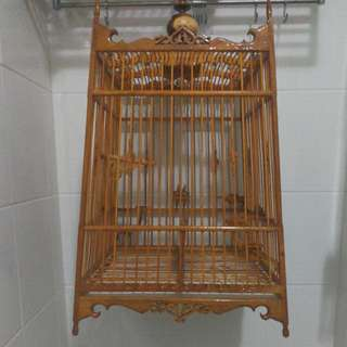 17 sticks solid wood Thai cage