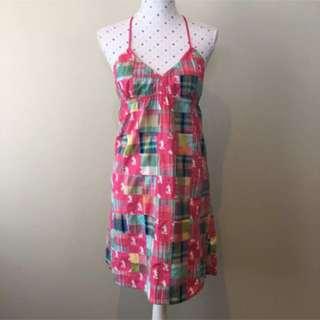 NWT Disneyland Cotton Minnie Mouse Halter Summer Dress Size M 8-10