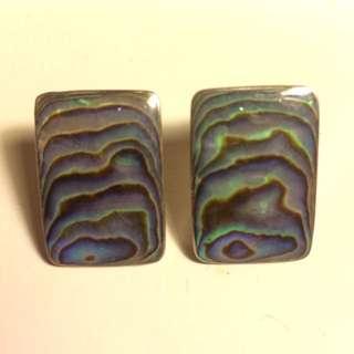 Silver Paua Shell Earrings