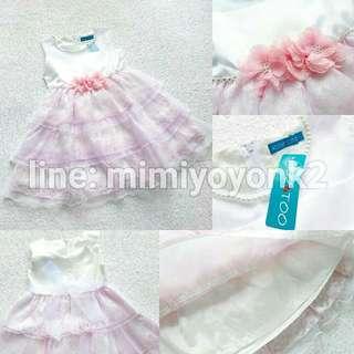 Dress Pink White