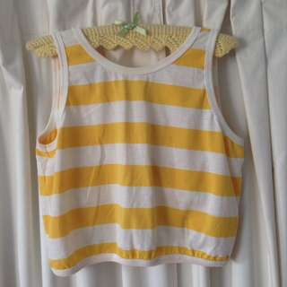 Cute Vintage KATIES Striped Crop