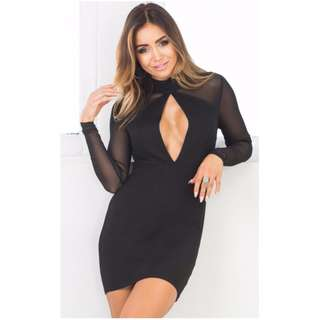 Showpo Mesh Sesh dress black size small size 8