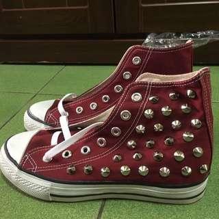全新卯釘帆布鞋