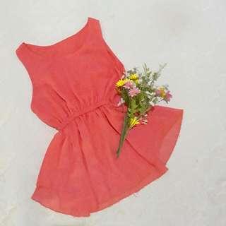 Pink Sleeveless Peplum