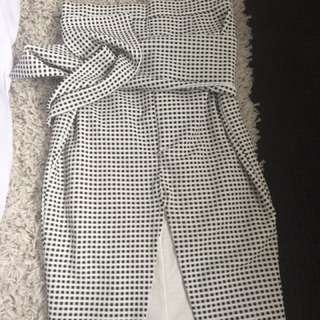 Lovely Tie Up Gingham Skirt
