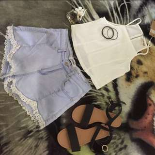 Ava And Ever Shorts And Moolalah Crop