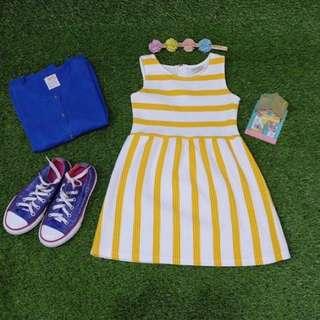 Zara Yellow Stripe Dress