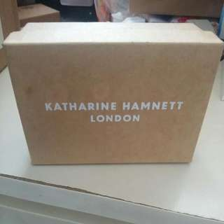 全新日本Katharine HAMNETT LONDON 天藍色皮散子包,雙面