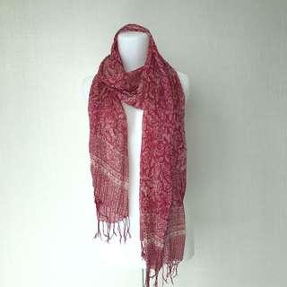 Red Chiffon Batik