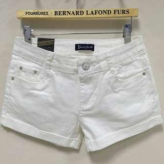 [Instock] white shorts