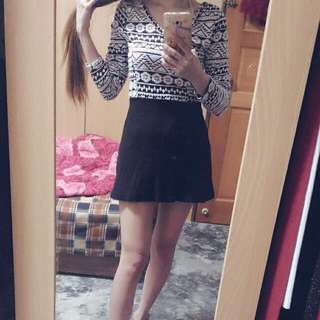 黑白色幾何圖形洋裝