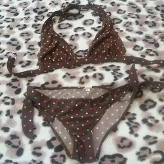 Brown Polka Dots 2 Piece