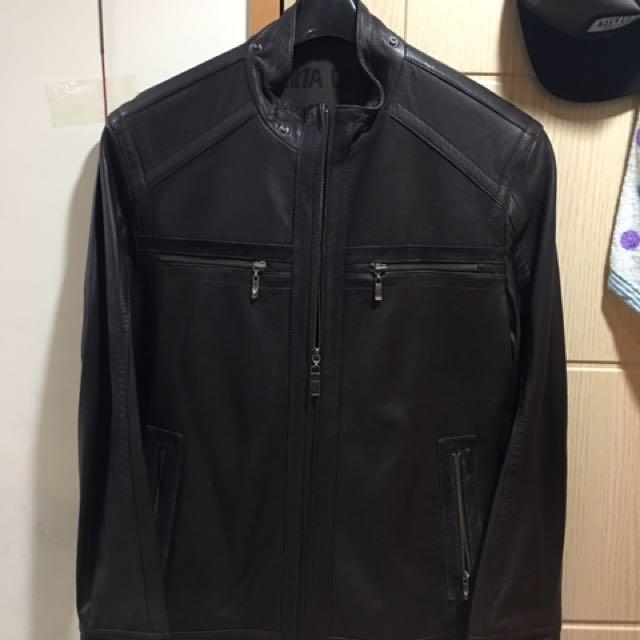 義大利真皮外套(原價16000)