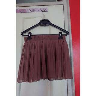 Short Skirt - Brown