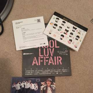BTS Skool luv Affair CD + stickers and card