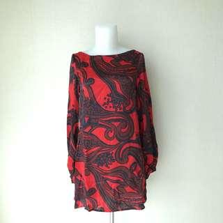 Zara Red Silk Dress