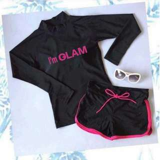 Rash guard Im glam pink lining