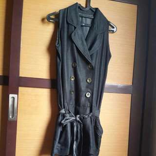 Jumsuit Short Pant Black