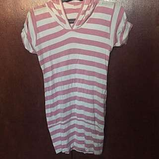 Stripes Dress Hoodie