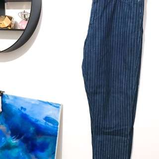 Top shop Denim Chinos With Pinstripes
