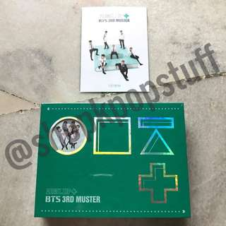 [READY STOCK] BTS 3RD MUSTER [ARMY.ZIP+] DVD Factory Sealed (3 DISK + Official Special Postcard + Free Gifts