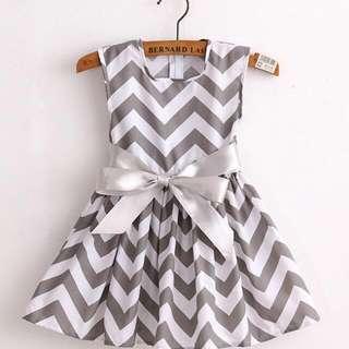 New 2017 Brand fashion cotton print girls dress