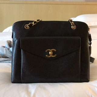 Chanel Vintage Tote Caviar Leather