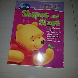 Preschooler Practice Book Shapes And Sizes