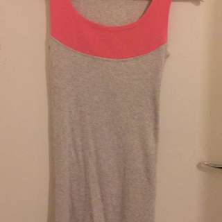 Grey/pink Cotton Dress
