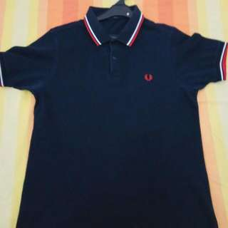 Reprice Fred Perry Polo Navy Blue