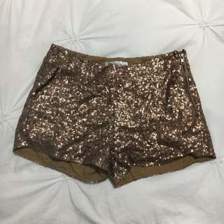 Gold Sequin Pants - Loving Things