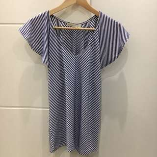 Blue Stripe Top - Quirky Circus