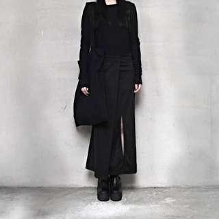 Immense 暗黑側邊開叉長裙 黑色