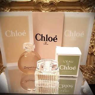 Miniature L'eau De Chloe & Repetto 5ML w 3 Chloe Samples