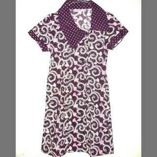Mint Batik Dress Ungu