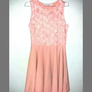 Peach Chic Simple Dress
