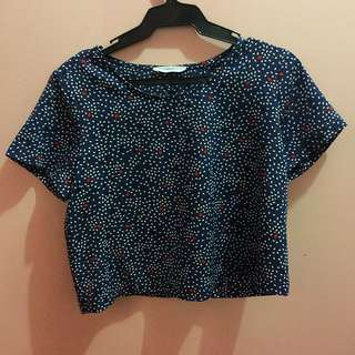 Mango Cropped Casual Top