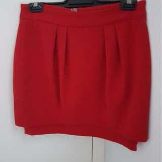Red Portmans Skirt size 8