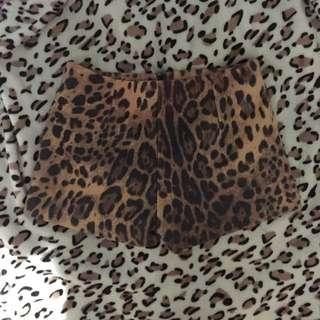 Leopard Print Highwaist Shorts