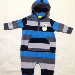 Infant Overalls With Hoodie